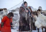 In der Region Lappland in Schweden und Finnland führen die Sámi ein tradiditionelles Leben.