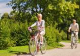 Unternehmen Sie Ausflüge in die Natur – auf dem Fahrrad oder zu Fuß – wunderschöne Landschaften erwarten Sie!