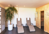 Entspannen Sie in der Finnischen Sauna des Hotels.