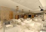 Hotel Olymp IV in Kolberg, Modellbild Café