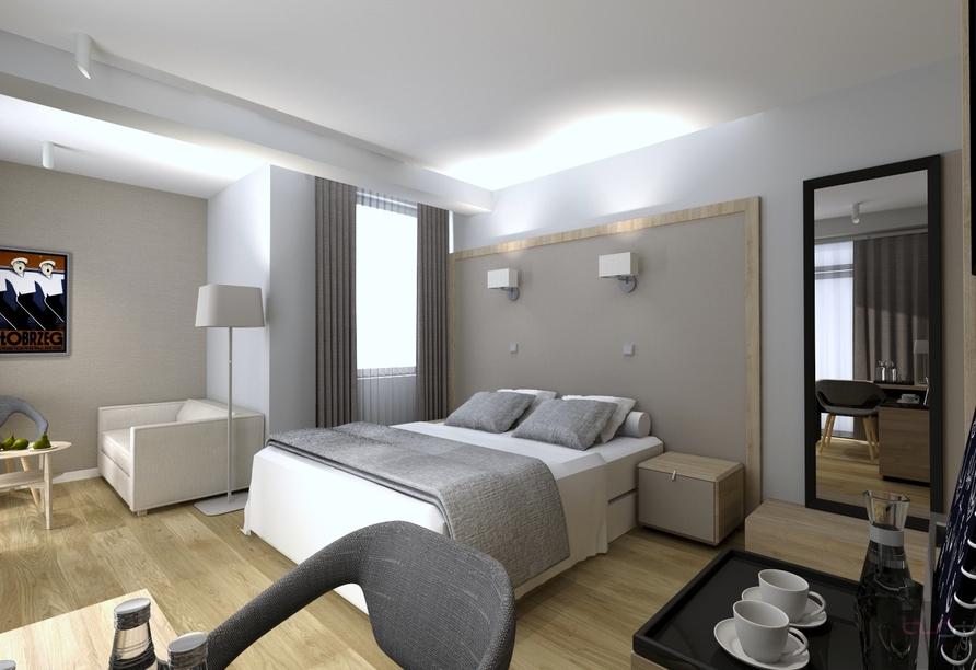 Hotel Olymp IV in Kolberg, Modellbild Zimmerbeispiel