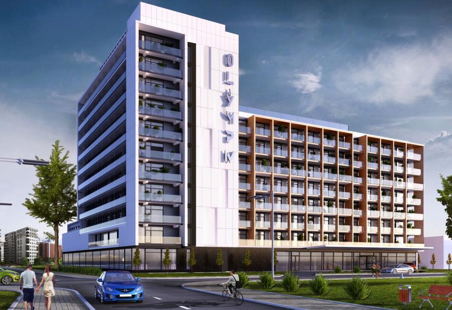 Hotel Olymp IV in Kolberg, Modellbild Außenansicht