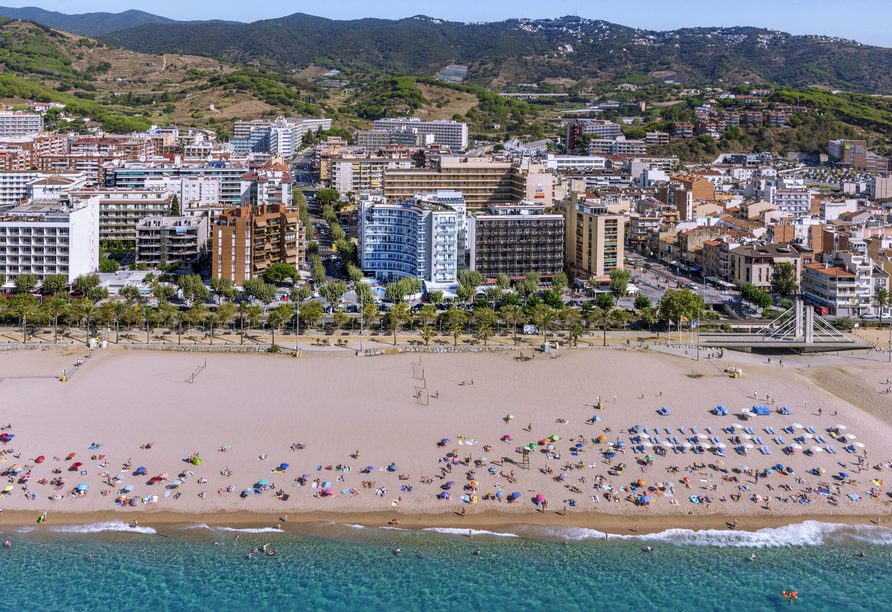 Genießen Sie die grandiose Lage des Strandhotels.