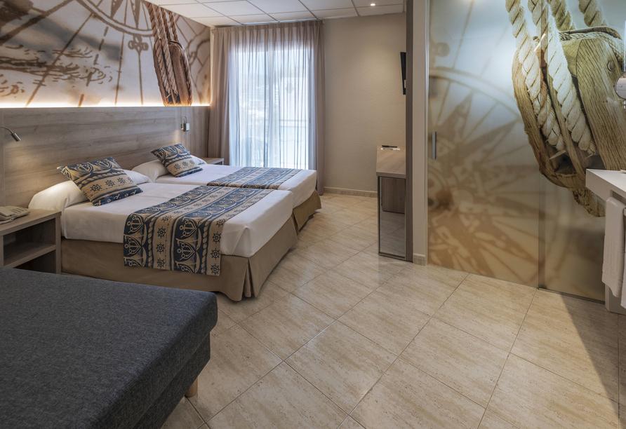 Beispiel eines Doppelzimmers im Hotel GHT Marítim in Calella