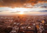 Pentahotel Leipzig, Blick über Leipzig