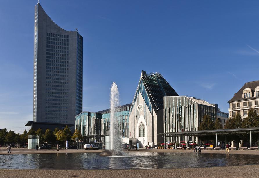 Pentahotel Leipzig, City-Hochhaus am Augustusplatz