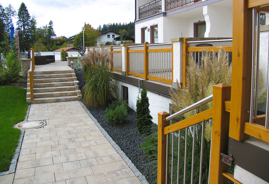 Außenbereich des Ferienhotel Riesberghof