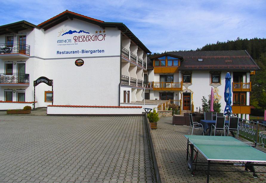 Außenansicht des Ferienhotel Riesberghof