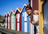 Rundreise Schweden, bunte Häuser
