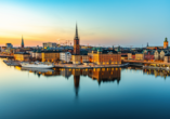 Rundreise Schweden, Sonnenuntergang in Stockholm
