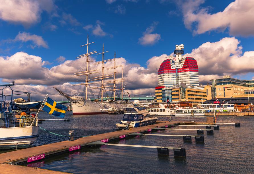 Rundreise Schweden, Göteborg Hafen