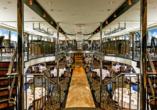 MS Amelia ab/an Passau, Restaurant