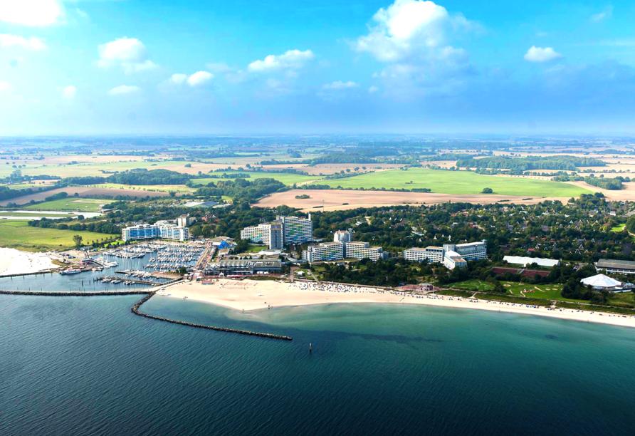 Ostsee Resort Dampland, Außenansicht