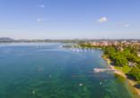 Der Bodensee bietet herrliche An- und Ausblicke.