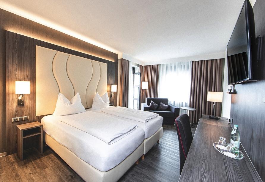 Beispiel eines Doppelzimmers im PLAZA Hotel Buchhorner Hof