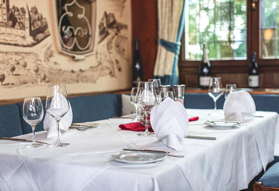 Im Restaurant des Hotels dürfen Sie sich kulinarisch verwöhnen lassen.