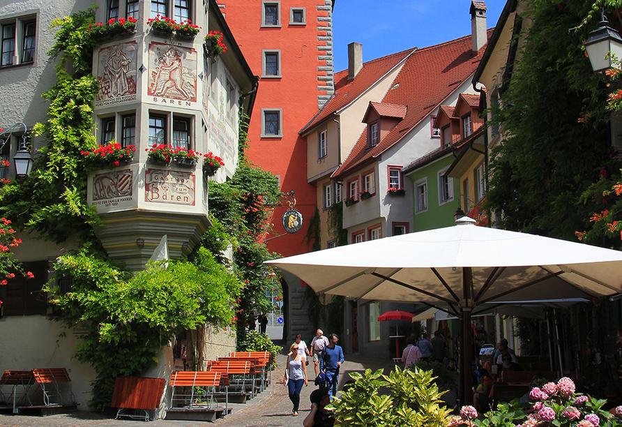 Auch Meersburg weiß mit mittelalterlichen Straßen zu begeistern.