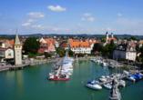 Schlendern Sie in aller Ruhe durch Lindau am Bodensee.