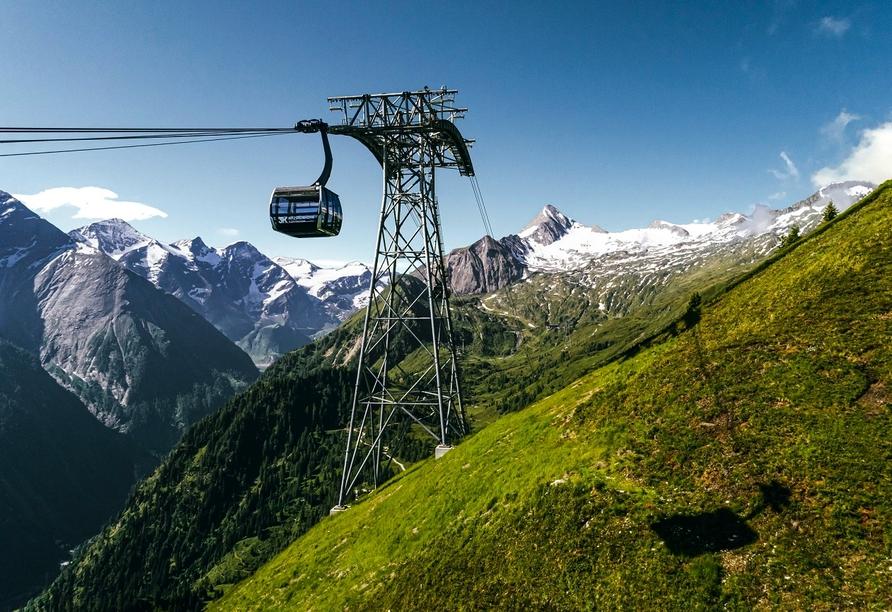 Fahren Sie hinauf auf den über 3.000 Meter hohen Kitzsteinhorn.