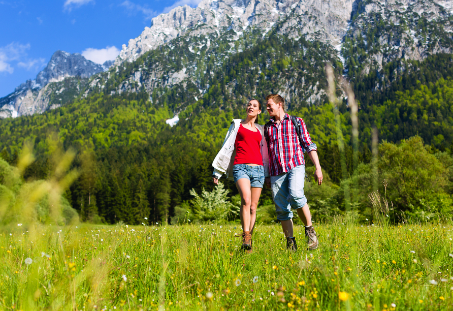 Zum Wandern ist das Salzburger Land hervorragend geeignet.