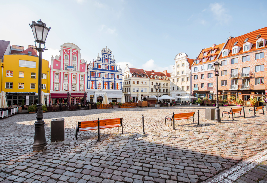 8-tägige Autorundreise Höhepunkte Masuren & Pommern 2021, Marktplatz Stettin