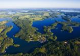 8-tägige Autorundreise Höhepunkte Masuren & Pommern 2021, Masuren aus der Vogelperspektive