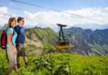 Blick auf die Nebenhornbahn in Oberstdorf
