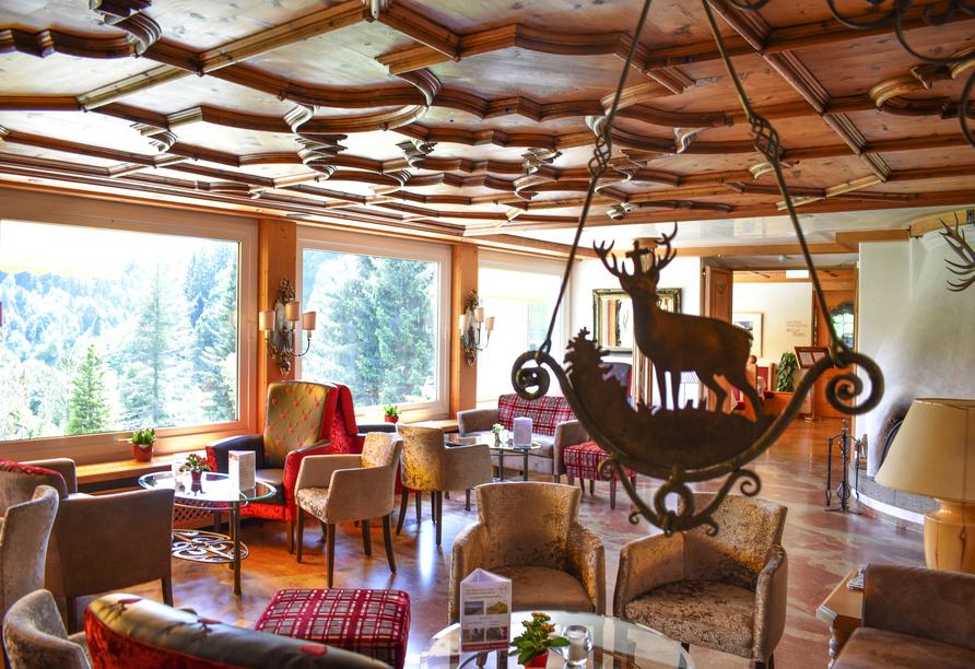 Lobby im Alpenhotel Oberstdorf