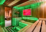 In der Sauna können Sie vom Alltag abschalten.