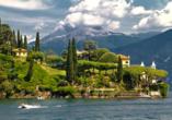 8-tägige Autorundreise Alpenrundfahrt Schweiz  -Italien - Frankreich, Comer See