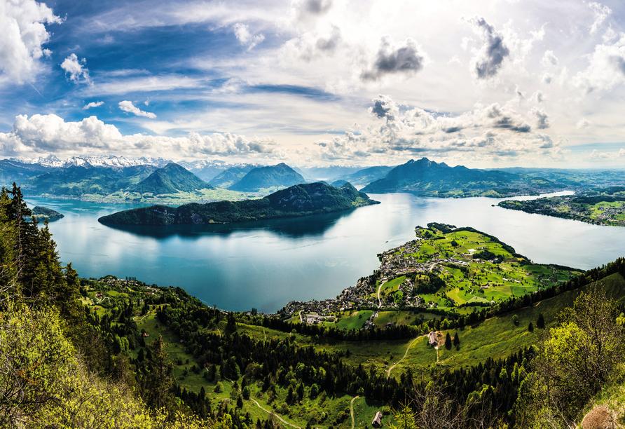 8-tägige Autorundreise Alpenrundfahrt Schweiz  -Italien - Frankreich, Vierwaldstättersee