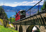8-tägige Autorundreise Alpenrundfahrt Schweiz  -Italien - Frankreich, Lugano Seilbahn