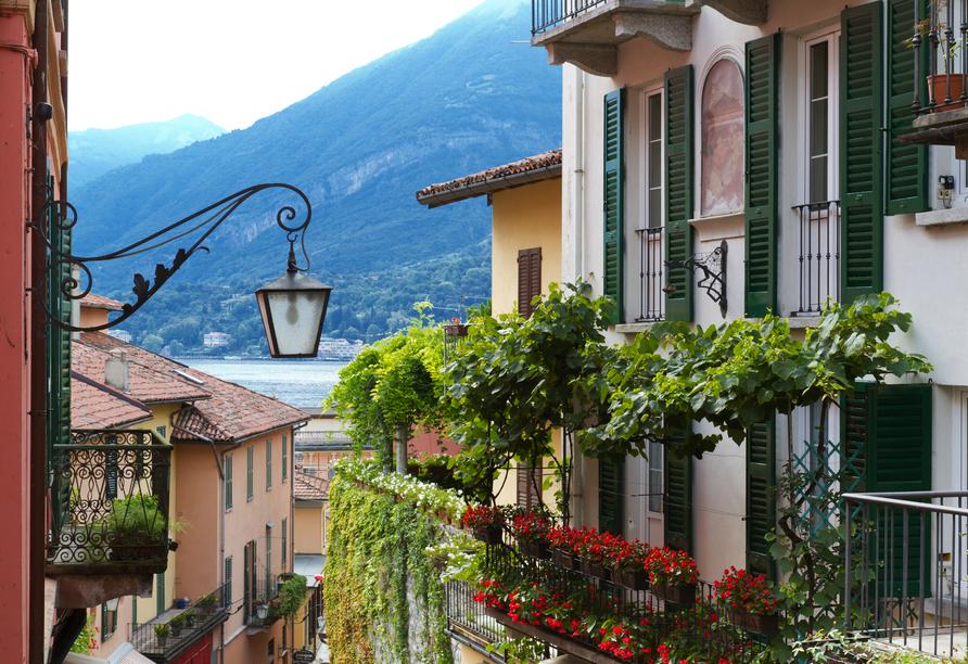 8-tägige Autorundreise Alpenrundfahrt Schweiz  -Italien - Frankreich, Comer See Wohnhaus