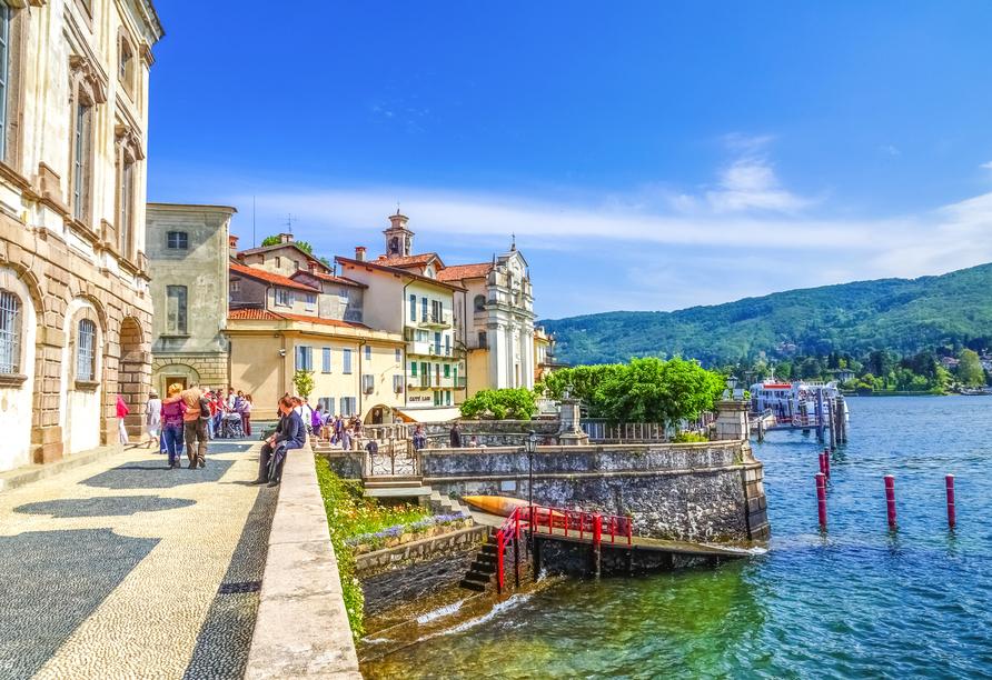 8-tägige Autorundreise Alpenrundfahrt Schweiz  -Italien - Frankreich, Lago Maggiore
