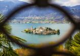 8-tägige Autorundreise Alpenrundfahrt Schweiz  -Italien - Frankreich, Orta See