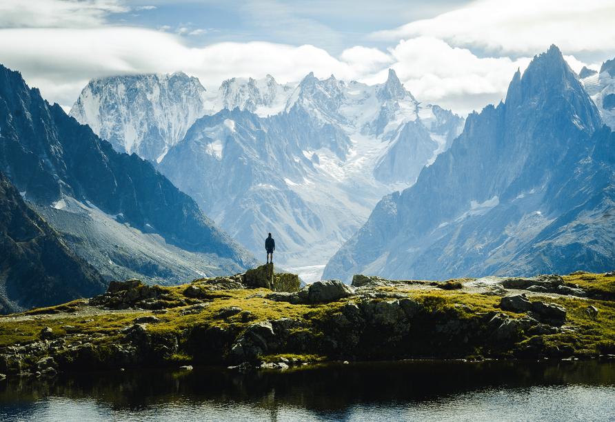 8-tägige Autorundreise Alpenrundfahrt Schweiz  -Italien - Frankreich, Mont Blanc