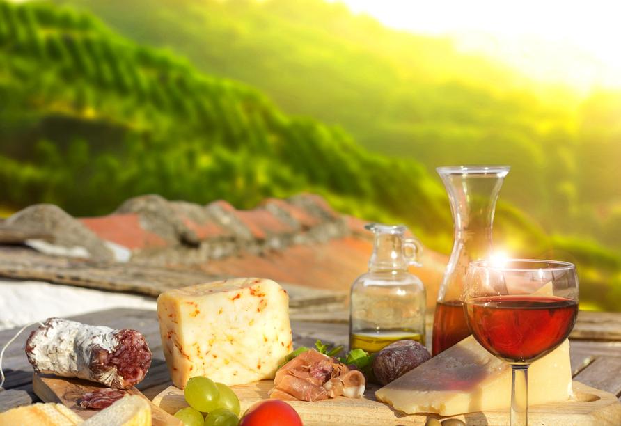 8-tägige Autorundreise Alpenrundfahrt Schweiz  -Italien - Frankreich, Köstlichkeiten