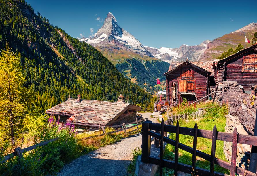 8-tägige Autorundreise Alpenrundfahrt Schweiz  -Italien - Frankreich, Zermatt