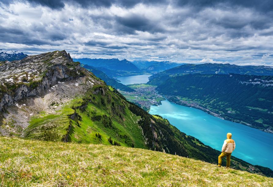 Arenas Resort Victoria-Lauberhorn, Aussicht Interlaken-Brienzersee