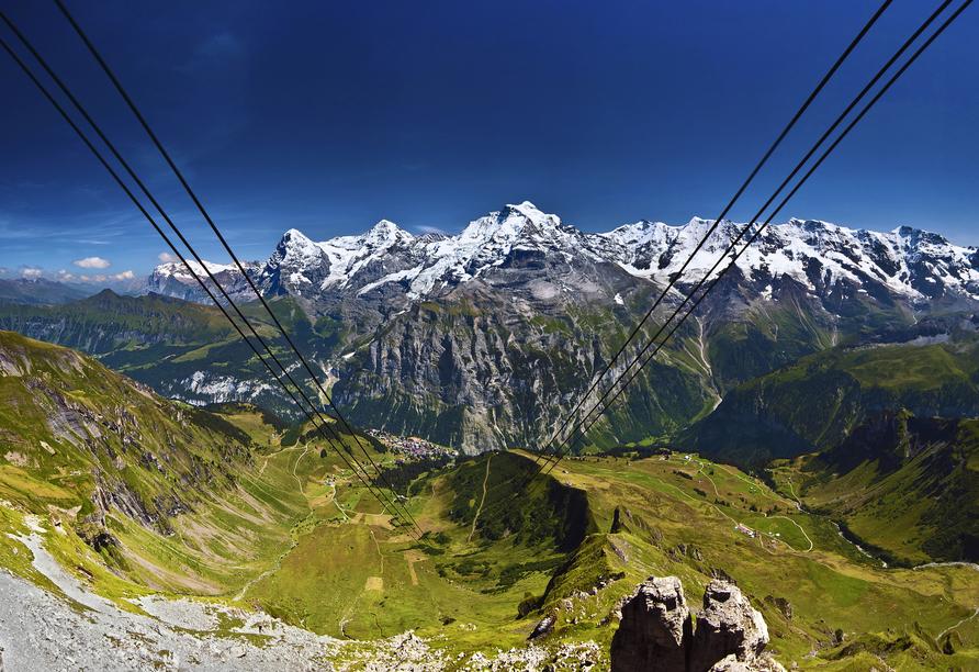 Arenas Resort Victoria-Lauberhorn, Eiger, Mönch & Jungfrau vom Schilthorn