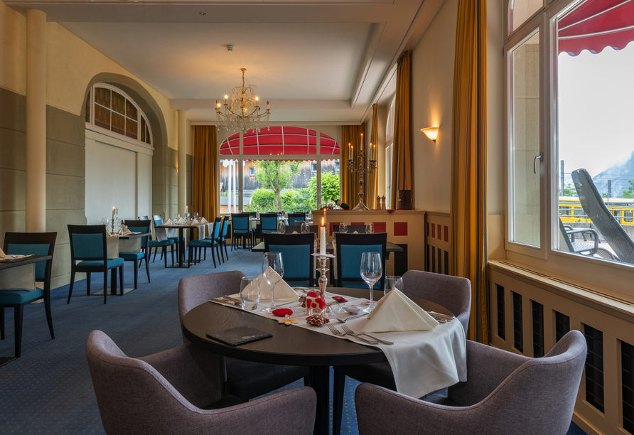 Arenas Resort Victoria-Lauberhorn, Restaurant Lobhörner
