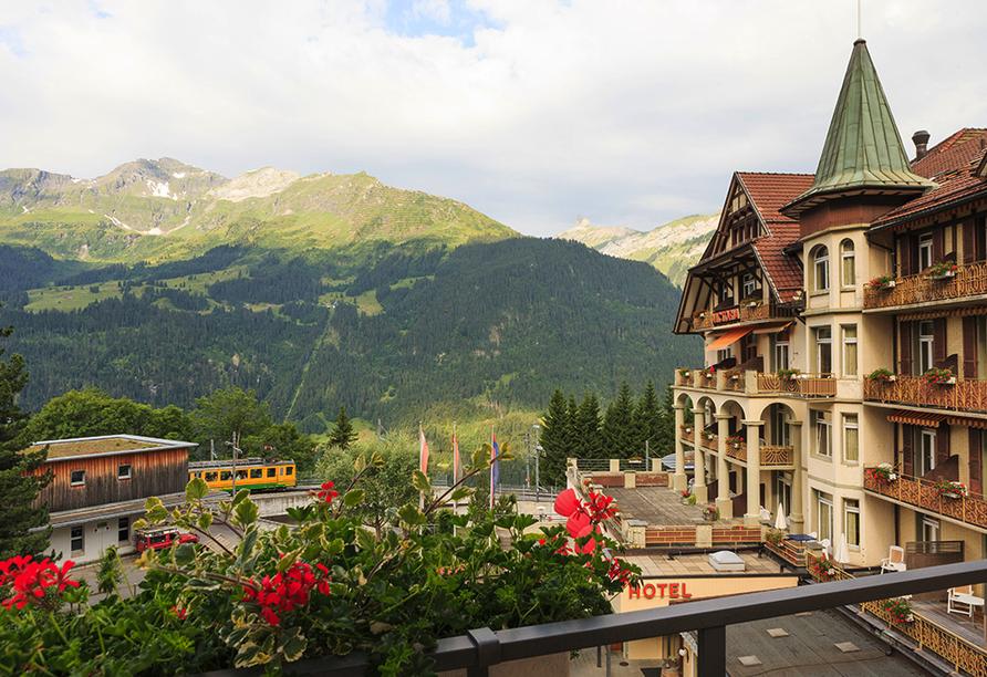 Arenas Resort Victoria-Lauberhorn, Außenansicht Berge