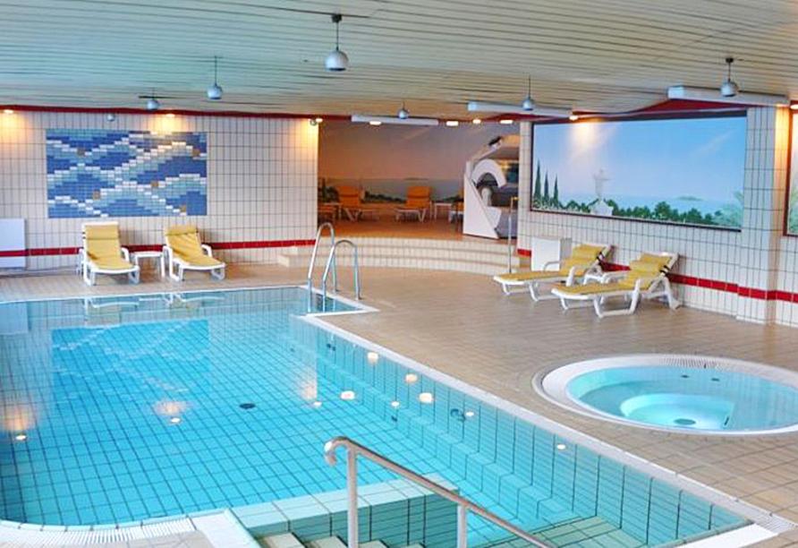 Verbringen Sie entspannte Stunden im Wellnessbereich des Hotels.