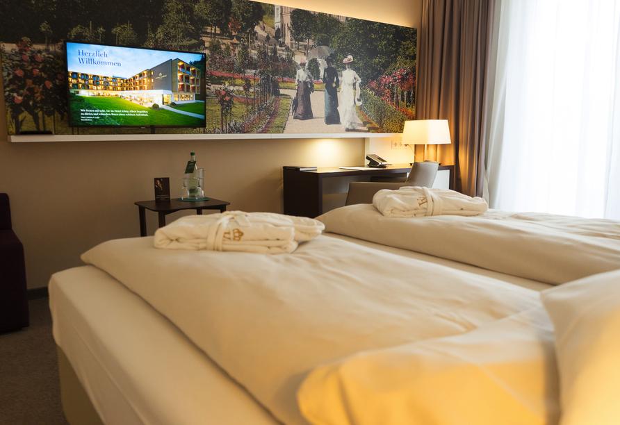 Hotel König Albert in Bad Elster, Beispiel Doppelzimmer Deluxe