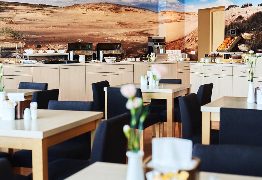 Frühstücksbereich im Beispielhotel Green Park in Klaipeda