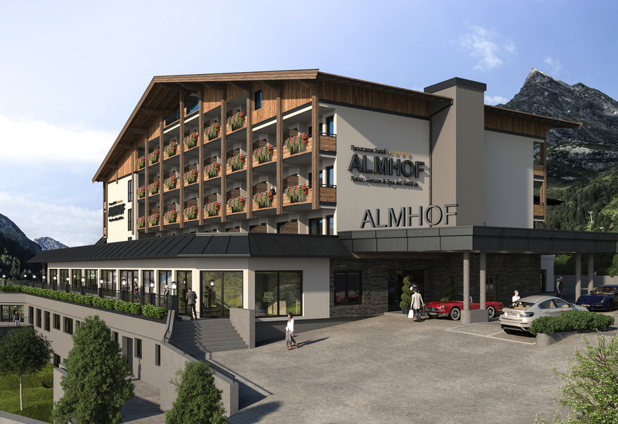 Hotel Almhof in Galtür, Außenansicht