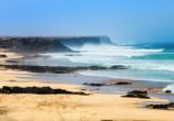 Den Strand von El Cotillo auf Fuerteventura werden Sie ebenfalls erkunden.
