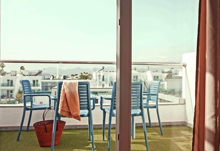 Beispiel eines Balkons im Appartement im Hotel BLUESEA Lanzarote Palm
