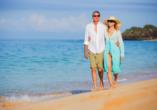 Unternehmen Sie ausgiebige Strandspaziergänge.