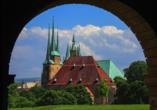 Quality Hotel am Tierpark, Blick auf Erfurter Dom